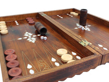 Load image into Gallery viewer, Backgammon Board Game Set Checkered Out Backammon Antochia Crafts