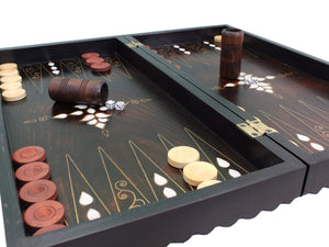 Wooden Backgammon Game Set
