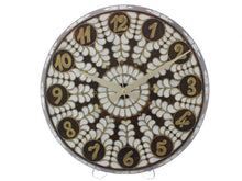 Load image into Gallery viewer, Handmade Mother of Pearl Inlay Wall Clock – Antochia Crafts Wall Clock Antochia Crafts