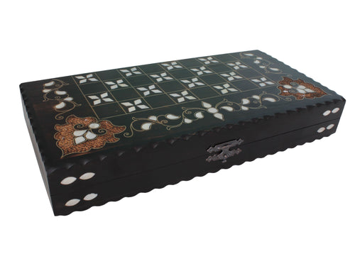 Wooden Handmade Backgammon Checkered Out Backammon Antochia Crafts