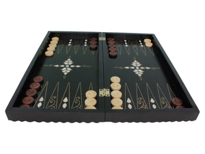 Wooden Handmade Backgammon Game Set Checkered Out