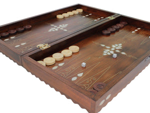 Backgammon Board Game Set Checkered Out Backammon Antochia Crafts