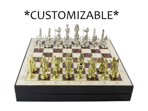 Marble Patterned Chess - 13.7 Inch Personalized Antochia Crafts