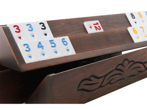 Hand Carved Straight Rummy Cube Game Set Rummy Antochia Crafts