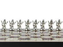 Load image into Gallery viewer, Marble Design Chess Board and Figures 14.5 Inch Antochia Crafts Only Chess Figures