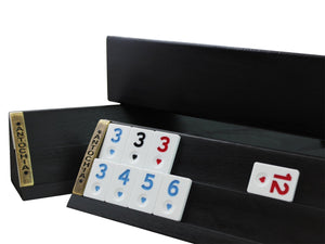 Straight Black Wooden Rummy Cube Game Set Rummy Antochia Crafts