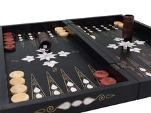 Load image into Gallery viewer, Wooden Backgammon Board Game Set - Black Backammon Antochia Crafts
