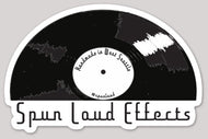 Spun Loud Effects die cut sticker