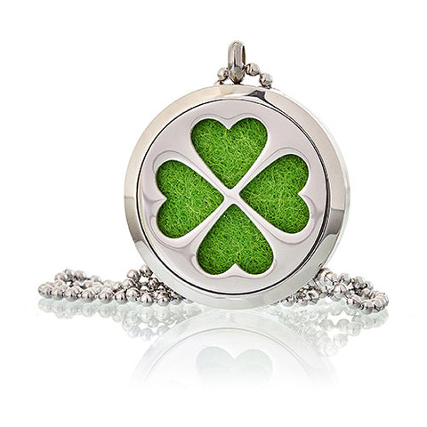 Four Leaf Clover Aromatherapy Diffuser Necklace