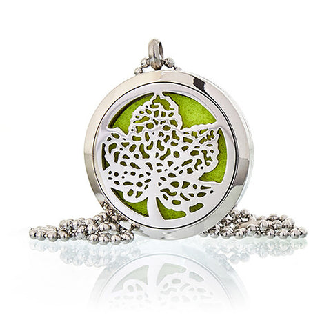 Leaf Aromatherapy Diffuser Necklace