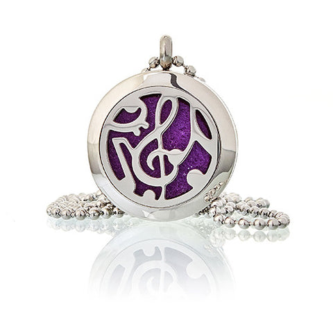 Music Notes Aromatherapy Diffuser Necklace