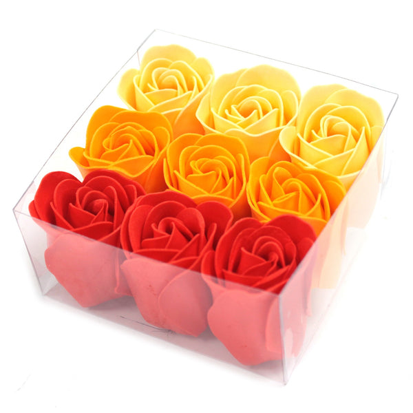 Set of 9 Soap Roses Flowers