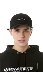 STITCH LOGO POINT BALL CAP (BLACK)