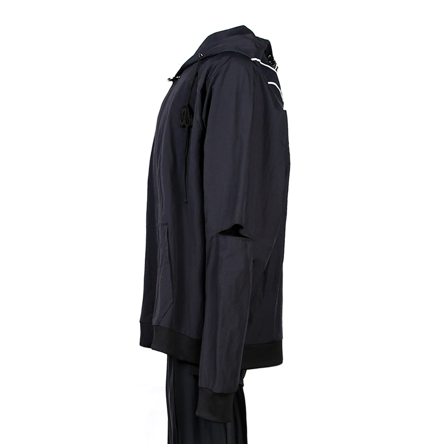 SIDE SLIT HOODIE JACKET (BLACK)