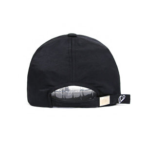CROWN EMBROIDERY BALL CAP (BLACK)