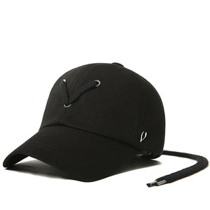 STRING POINT BALL CAP (BLACK)