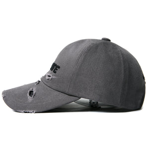 SIGNATURE DAMAGE BALL CAP (GRAY)