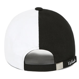COTTON SPLIT BALL CAP (BLACK & WHITE)