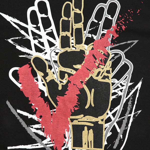 HAND LOGO BLACK GRAFFITI T-SHIRTS (BLACK)