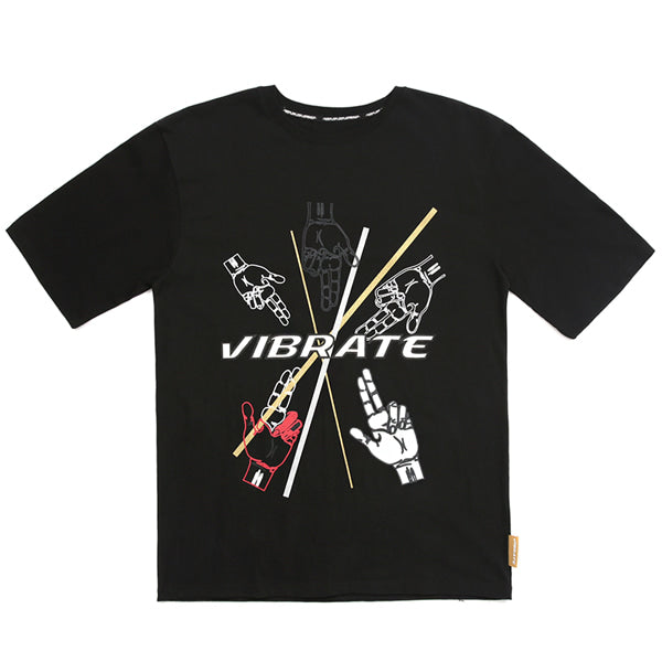 GOLDLINE FINGER ARTWORK T-SHIRT (BLACK)