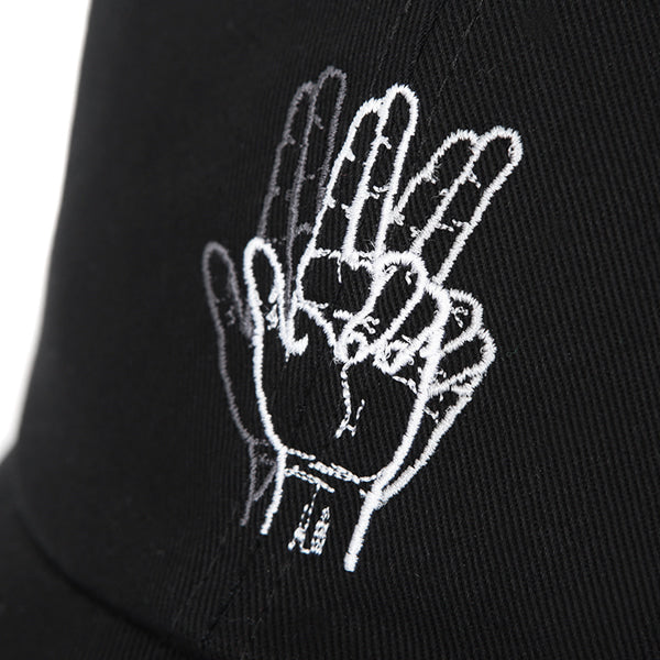 CLASSIC HAND SIGN BALL CAP (BLACK)