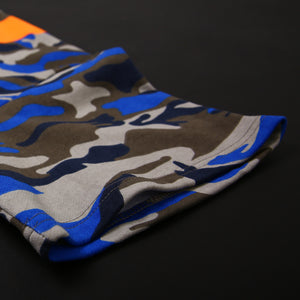 SCOTCHLITE OBLIQUE LINE TOP (CAMO BLUE)