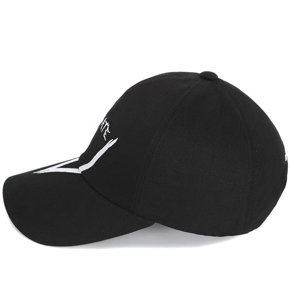 V GRAFFITI LOGO BALL CAP (BLACK)