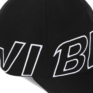 BASIC BIG LOGO BALL CAP (BLACK)