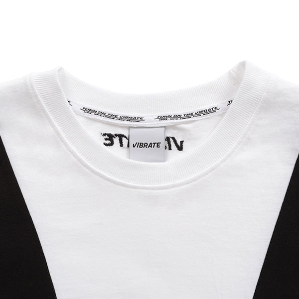 LINE COMBINATION T-SHIRT (WHITE)