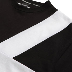 LINE COMBINATION T-SHIRT (BLACK)