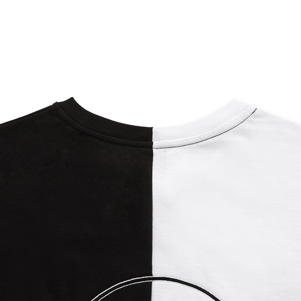 SPLIT APPLIQUE T-SHIRTS (BLACK)
