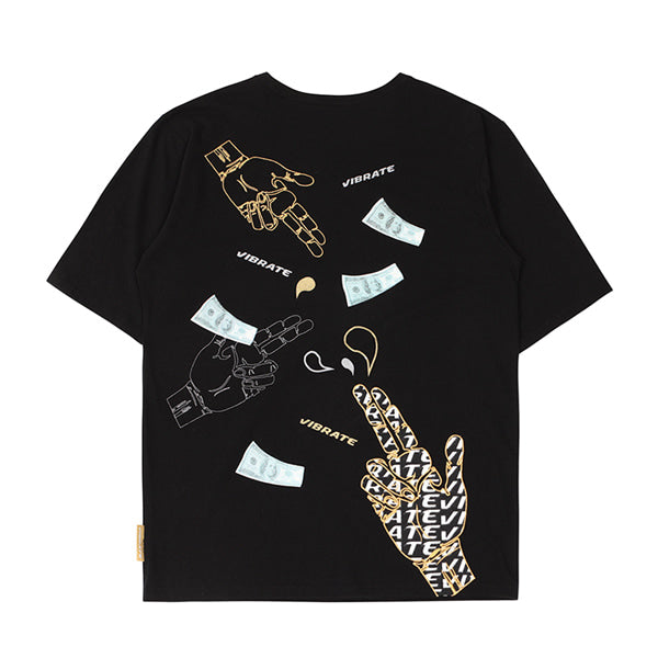 MONEY GUN ARTWORK T-SHIRTS (BLACK)