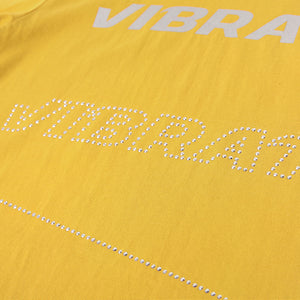 ZIPPER HOTFIX DETAIL T-SHIRTS (YELLOW)