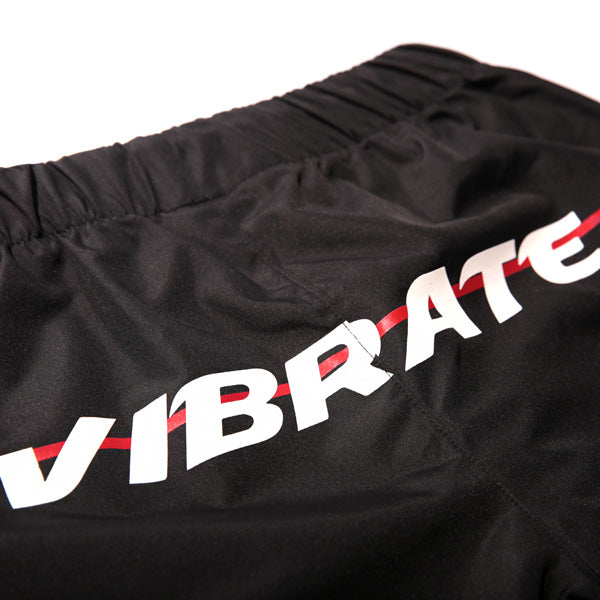 RED CROSSLINE SWIM WEAR PANTS (BLACK)