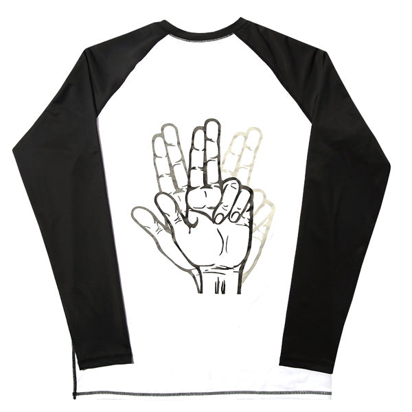 BASIC LOGO RASH GUARD (WHITE & BLACK)