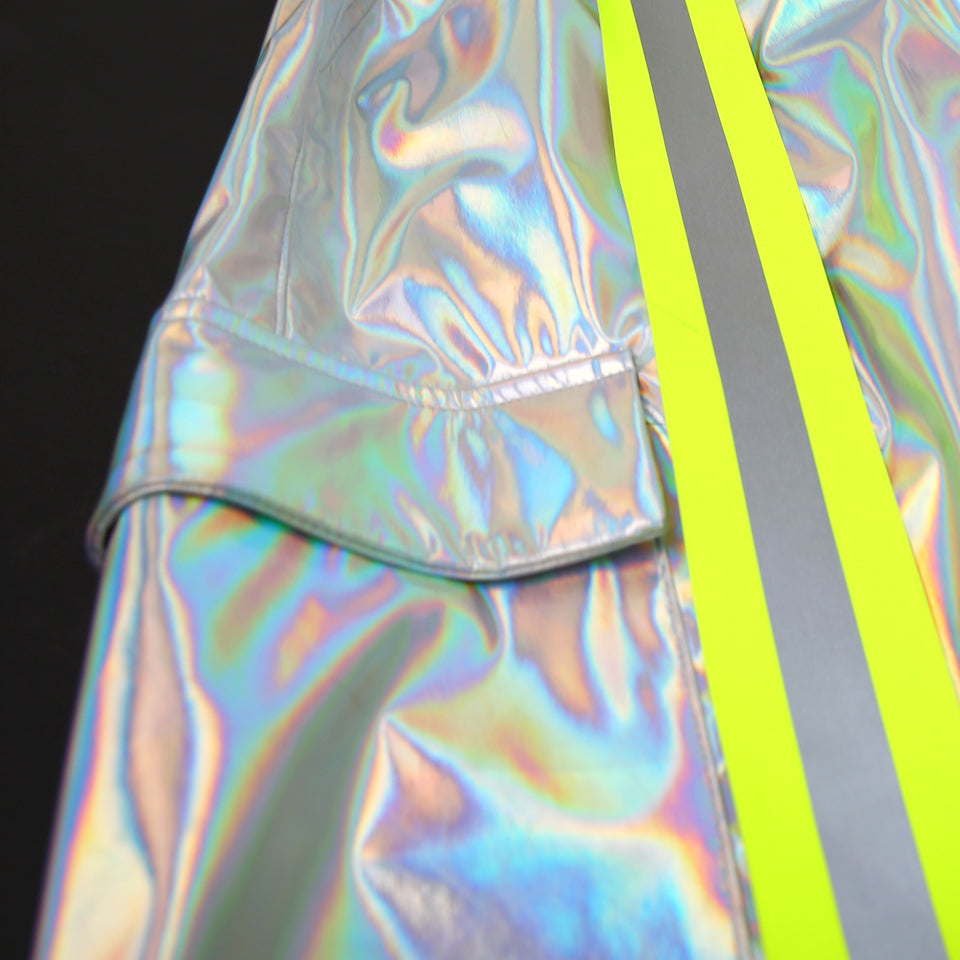 HOLOGRAM SCOTCHLITE SHORT PANTS