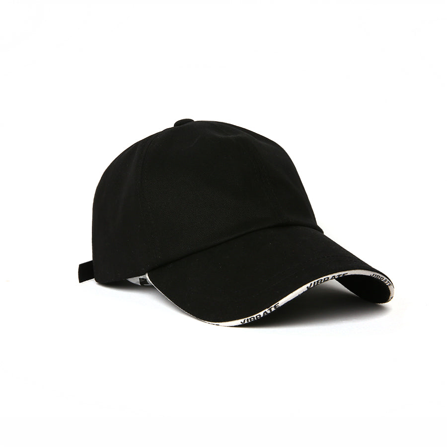 LINE TAPE LOGO BALL CAP (BLACK)
