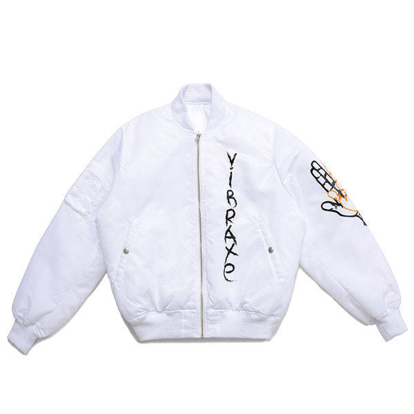 GRAFFITI MA-1 JACKET (WHITE)