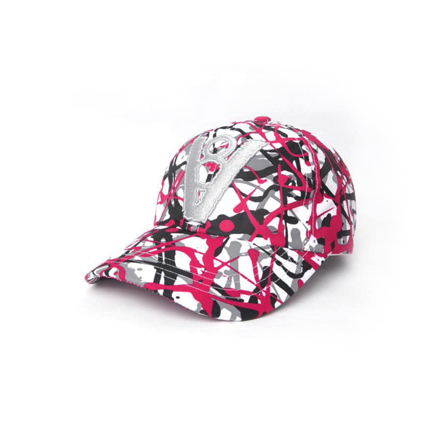 CAMOUFLAGE PATTERN BALL CAP (RED)