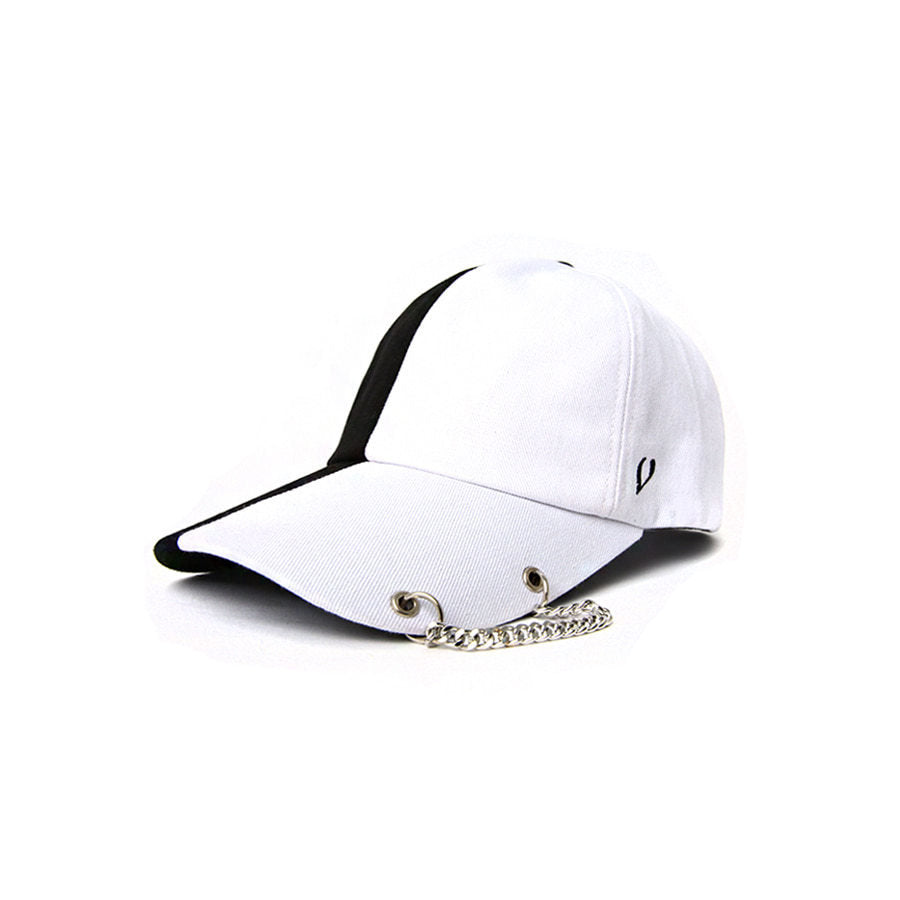 VIBRATE BASIC CHAIN SPLIT BALL CAP (BLACK & WHITE)