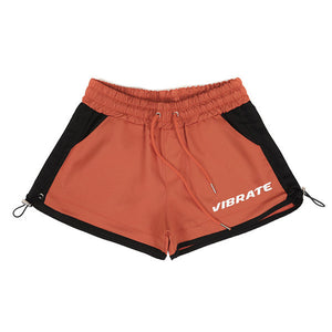 HIP LETTERING SHORT PANTS (ORANGE)