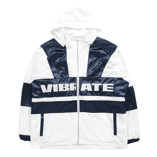 VELVET COLOR SCHEME WIND BREAKER (WHITE/BLUE)
