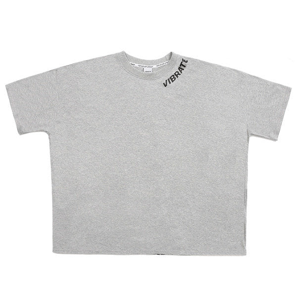 NECK LOGO FINGER PRINTING T-SHIRT (GRAY)