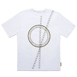 ROUND CHAIN T-SHIRTS (WHITE)