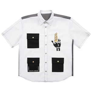 GOLDLINE 3POCKET HALF SHIRTS (WHITE)