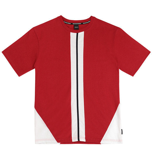 CROSS LINE BACK LOGO T-SHIRTS (RED)