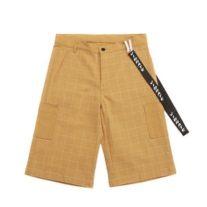 WINDOW CHECK LOOP SHORT PANTS (BEIGE)