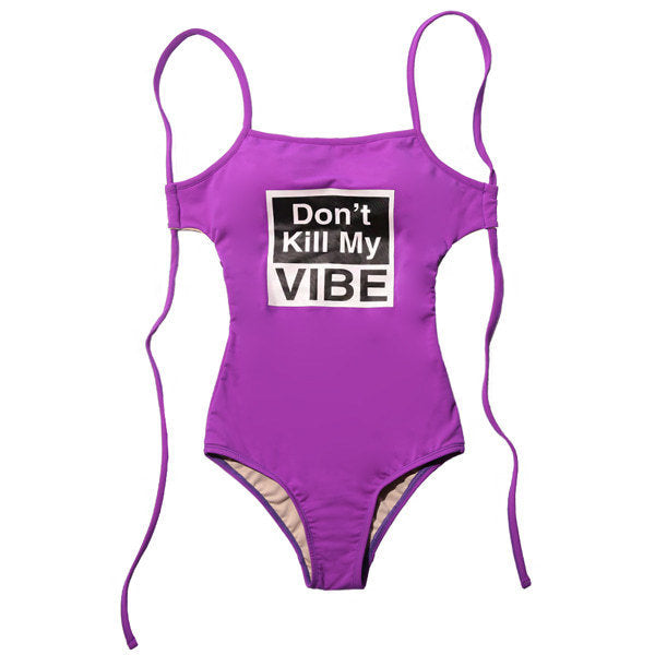 D.K.M.V SWIM SUIT (PURPLE)
