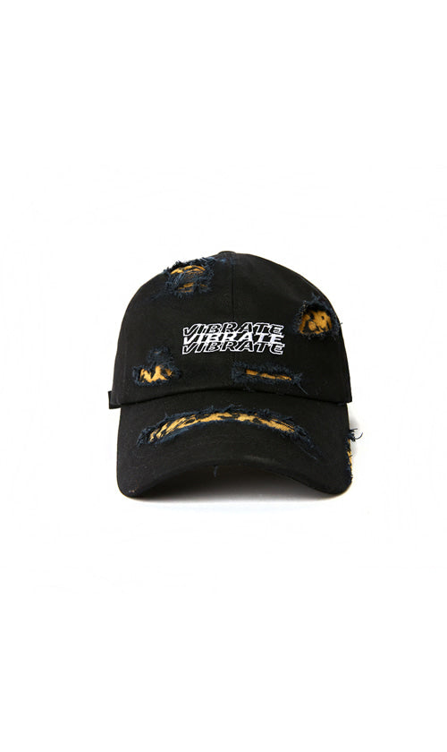 DAMAGE LEOPARD BALL CAP