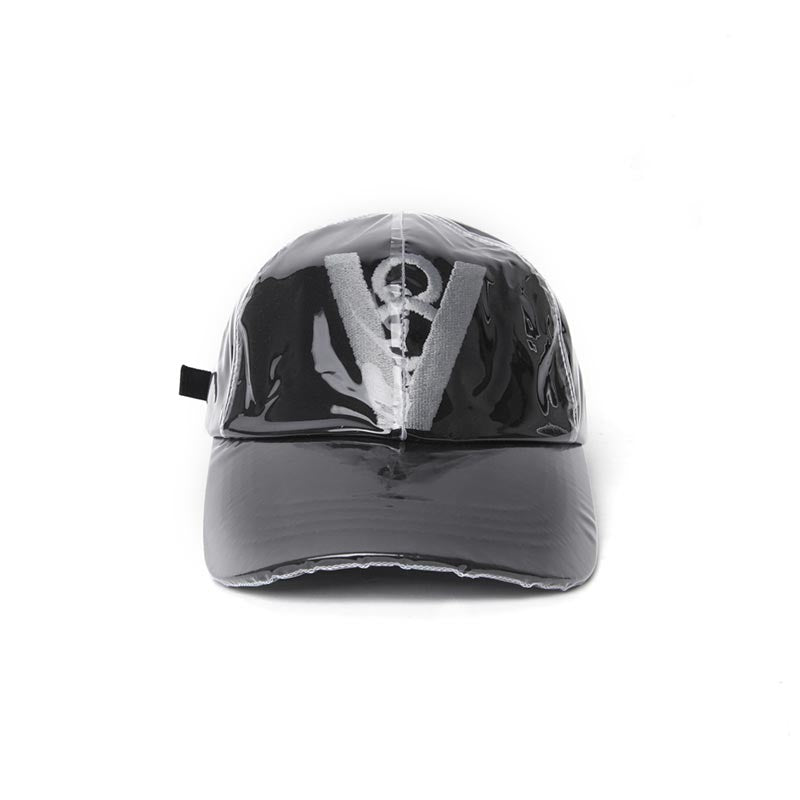 SYMBOL LOGO PVC BALL CAP (BLACK)